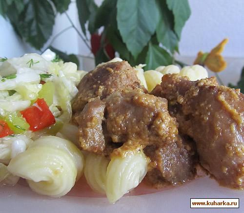 Рецепт Свинина в горчичном соусе