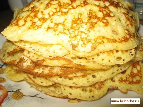 Рецепт Дрожжевые кукурузно-пшеничные блины