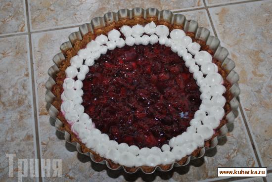 Рецепт Вишневый пирог с хрустящей корочкой