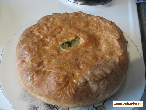 Рецепт Пирог с начинкой из сырой картошки