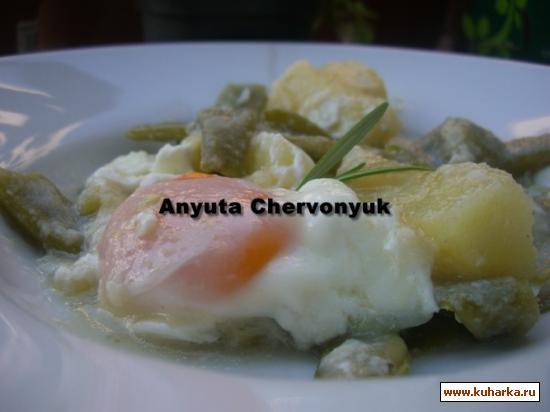 Рецепт Зелёная стручковая фасоль в соусе (Judias verdes esparragadas)