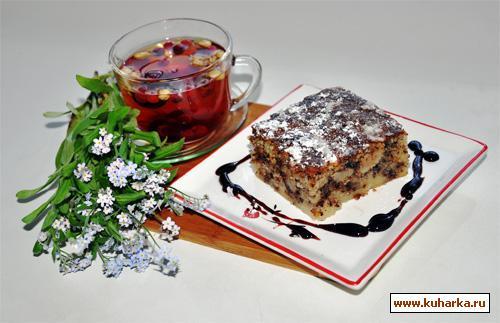 Рецепт Грушевый пирог с миндалем и шоколадом