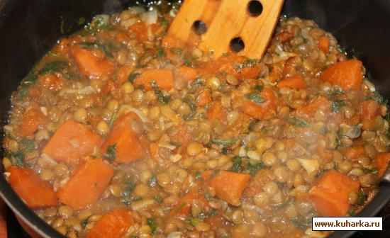 Рецепт Чечевица по-индийски от Le Cordon Bleu