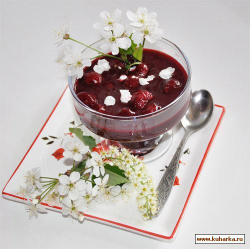 Рецепт Вишневый суп с шоколадом