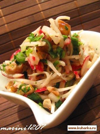 Рецепт Салат из редиски и кольраби