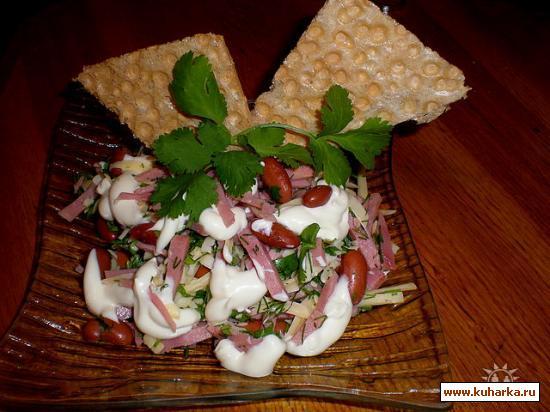 Рецепт Ветчино-фасолевый салат