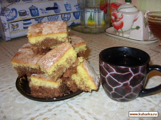 Рецепт Быстрый пирог на манке