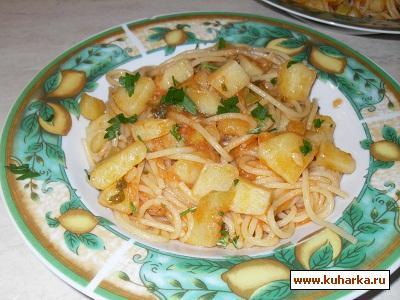 Рецепт Спагетти с картофелем и кабачком