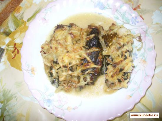 Рецепт Долма из ревеня с мясом и грибами