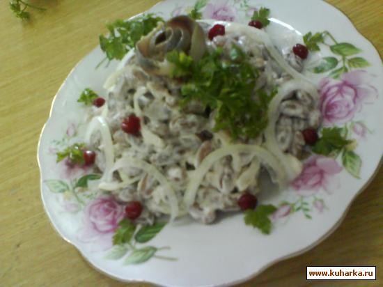 Рецепт Салат «Сельдь с фасолью»