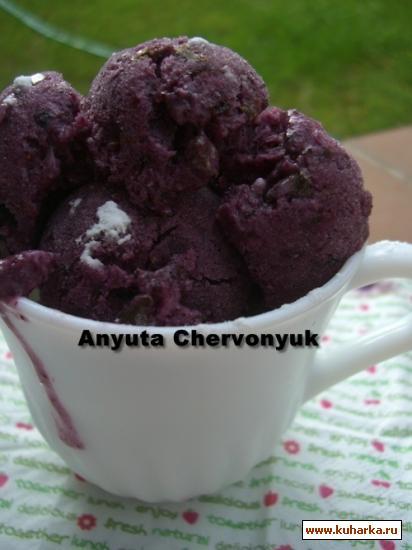 Рецепт Черничное мороженое (Helado de arandanos)