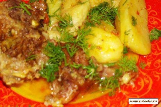 Рецепт Жаркое из баранины под соевым соусом