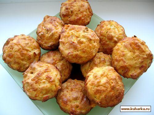 Рецепт Маффины с крабовыми палочками
