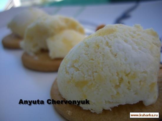 Рецепт Ананасовое мороженое.
