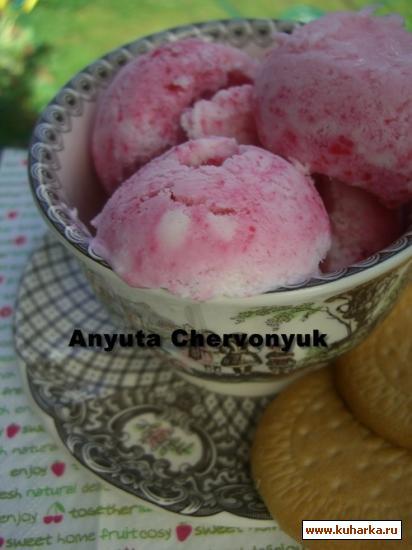 Рецепт Ванильно-черешневое мороженое.