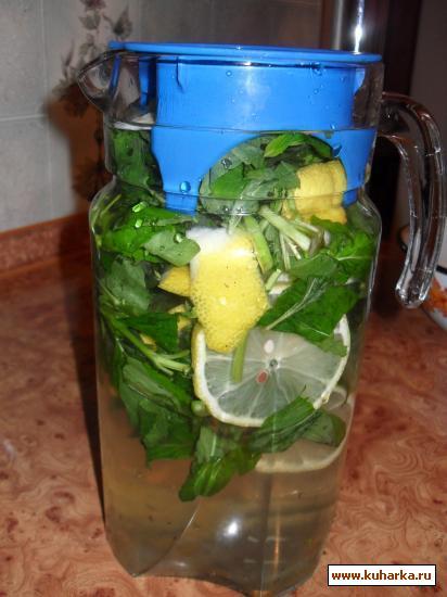 Рецепт Мятный напиток с лимоном