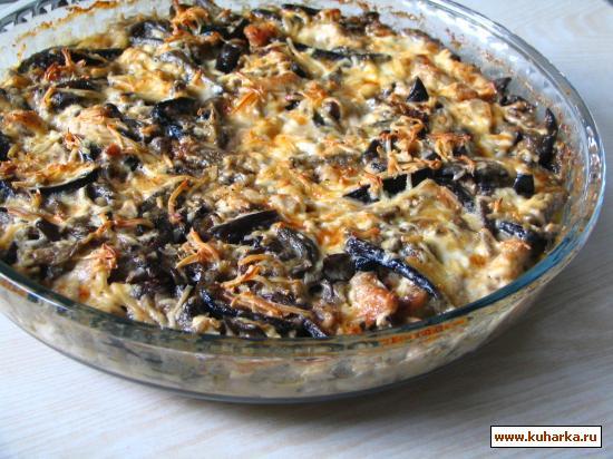 Рецепт Баклажаны с куриным филе