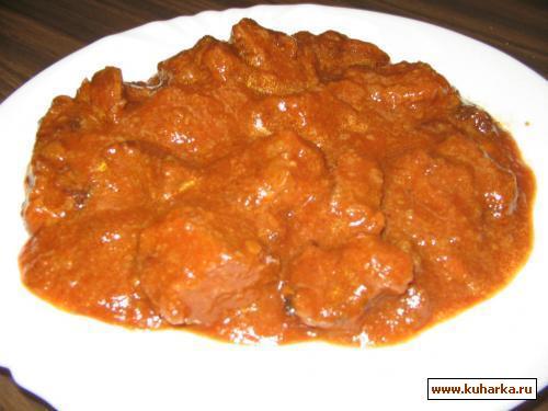 Рецепт Говядина в томатной пасте