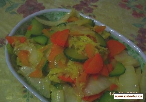 Рецепт Горячий салат с черешковым сельдереем по-пекински