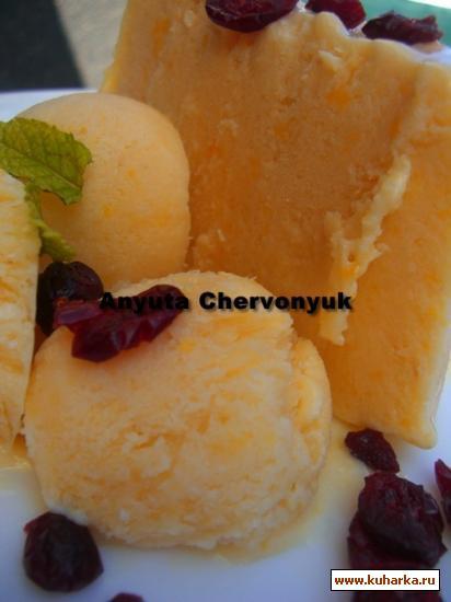 Рецепт Персиковое мороженое с мёдом.