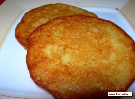 Рецепт Картофельные оладьи (Kartoffelpuffer)