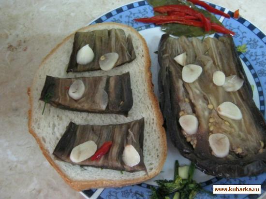 Рецепт Турша из баклажанов