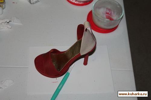 Туфля из мастики мастер класс фото