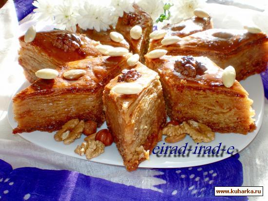 """Рецепт Пахлава с орехами и цукатами """" ЛАЗЗЕТ"""""""