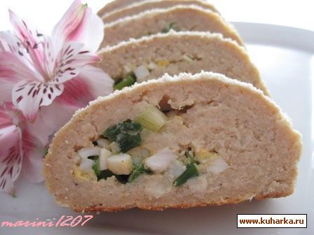 Рецепт Рыбный рулет с яйцами и зеленым луком