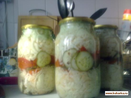 Рецепт Салат овощной с капустой