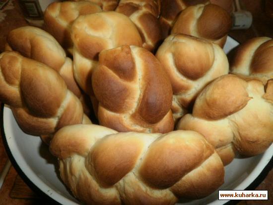 Рецепт Булочки для хот-дога (МК в фотографиях)
