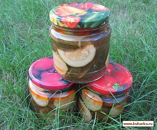 Рецепт Кабачки с томатом