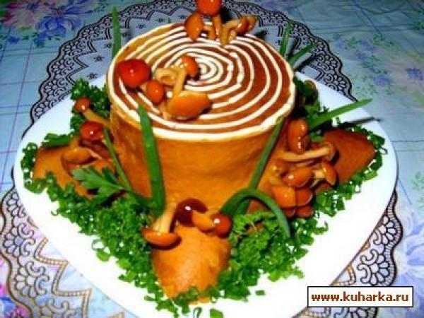 Пенек салат
