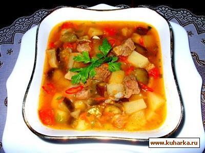 Рецепт Овощной соус-рагу со свининой