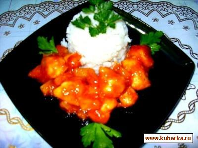 Рецепт Курица с карри и ананасами