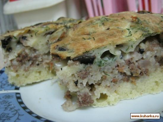 Рецепт Пирог с мясом и грибами