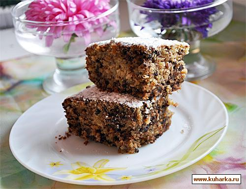Рецепт Овсянный кекс с халвой и шоколадом