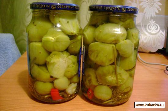 Рецепт Острые зеленые помидоры на зиму.