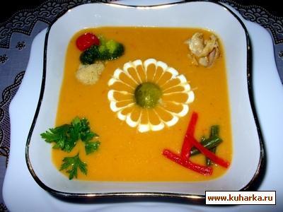 Рецепт Овощной крем-суп с курицей
