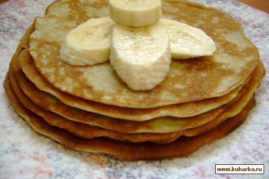 Рецепт Банановые блины.