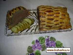 Рецепт Говядина, запеченная в тесте