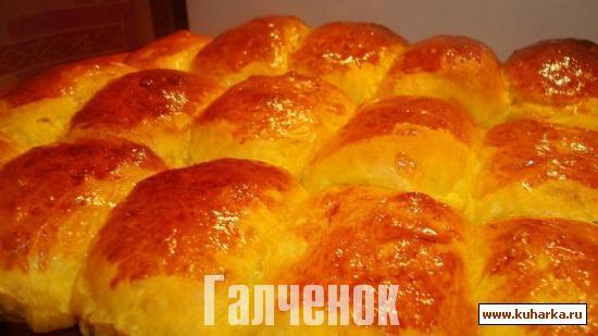 Рецепт Булочки тыквенно- творожные