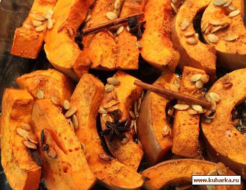 Рецепт Тыква, запеченная с пряностями
