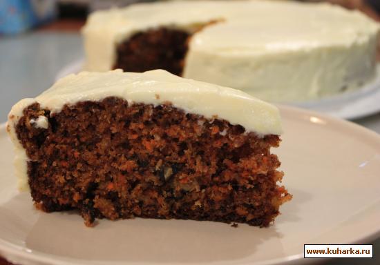 Морковный пирог с какао рецепт с фото