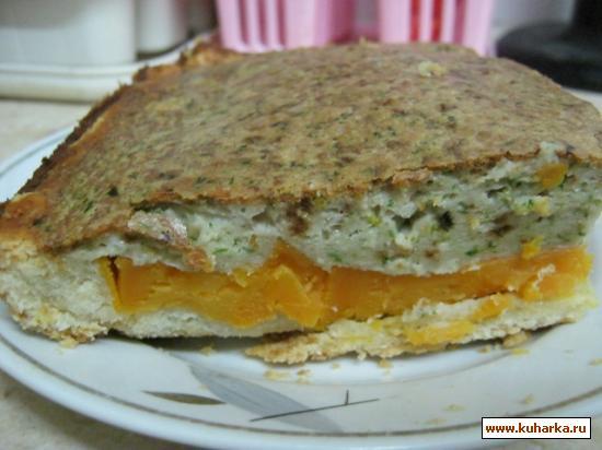 Рецепт Киш с бататом и соусом песто