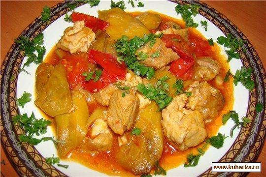 Рецепт Баранина с баклажанами