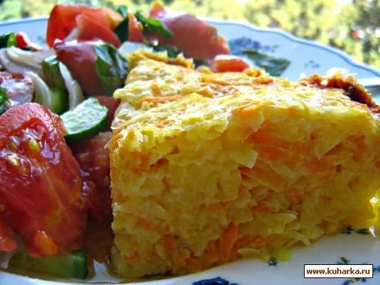 Рецепт Запеканка картофельно-морковная
