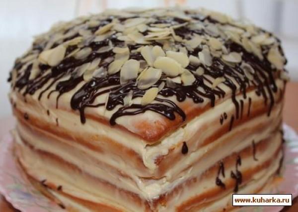 рецепт торта бисквитного со сметанным кремом фото