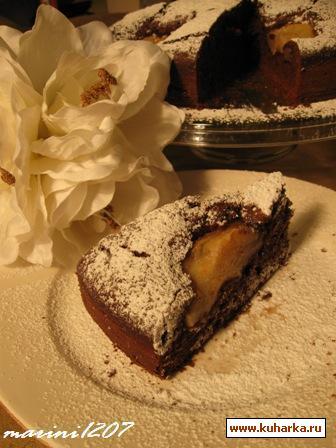 Рецепт Шоколадно-грушевый кекс