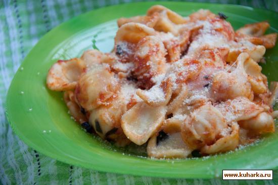 Рецепт Паста, запеченная с помидорами и моцареллой
